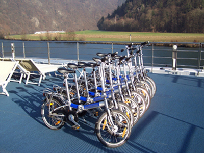 Bicycles Provided to AMA Waterways Guests for Sightseeing on Your Own