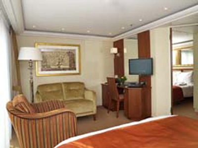 Junior Suite Living Room Aboard AMA Waterways' Amalegro