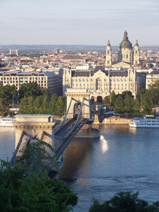 Walk the Chain Bridge in Budapest, Hungary on an AMA Waterways Guided Excursion