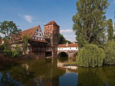Riverside View of Neuremburg, Germany
