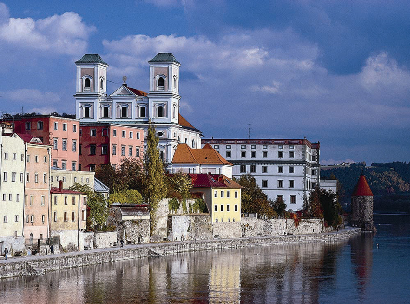 Riverside View of Passau, Germany