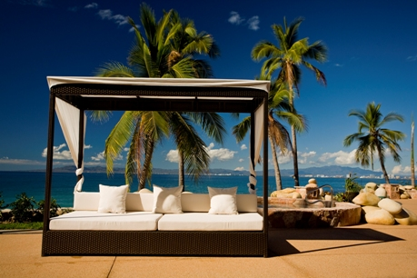 Relax on a Beach Bed at Garza Blanca Preserve Resort & Spa in Puerto Vallarta, Mexico