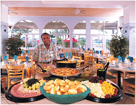 Buffet at Paradise Island Harbour Resort, Bahamas