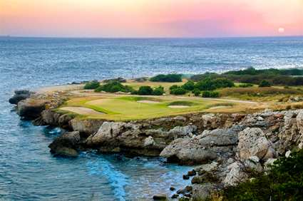 Golf Course Overlooking the Ocean at Hilton Curacao Resort