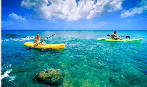 Kayaking at The Club. Barbados Resort & Spa