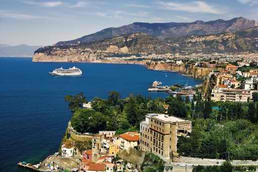Princess Cruises' Pacific Princess in Sorrento, Italy