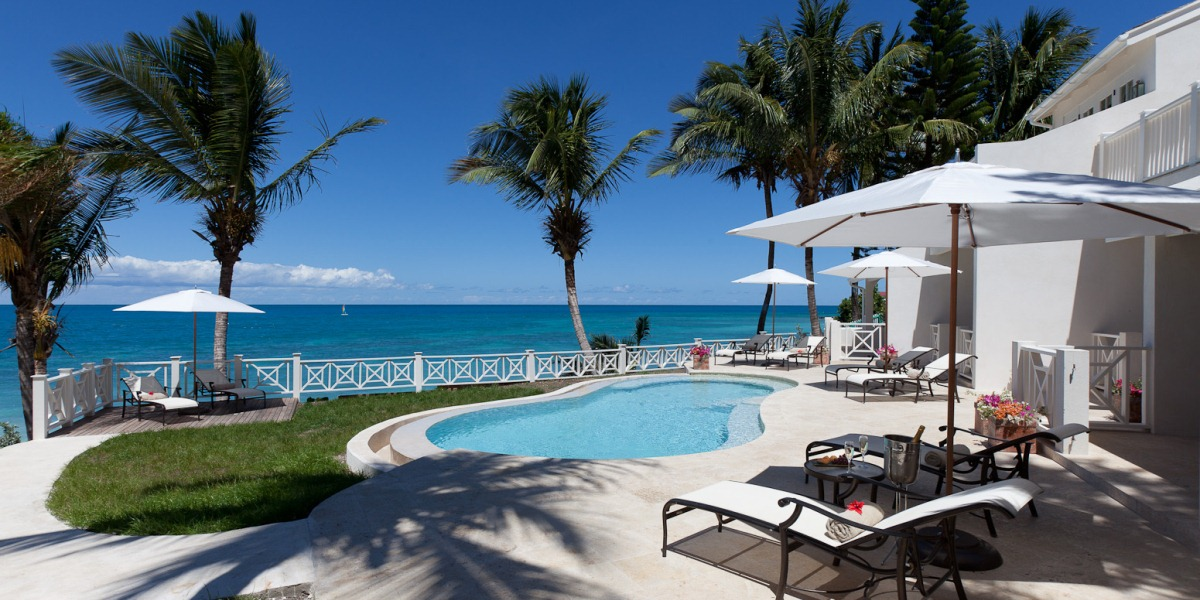 Pool at Blue Waters Resort's Pelican House in Antigua
