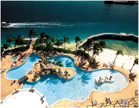 Pools at Paradise Island Harbour Resort, Bahamas