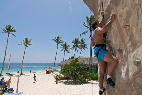 Rock Climbing on the Beach at Ocean by H10 Hotels