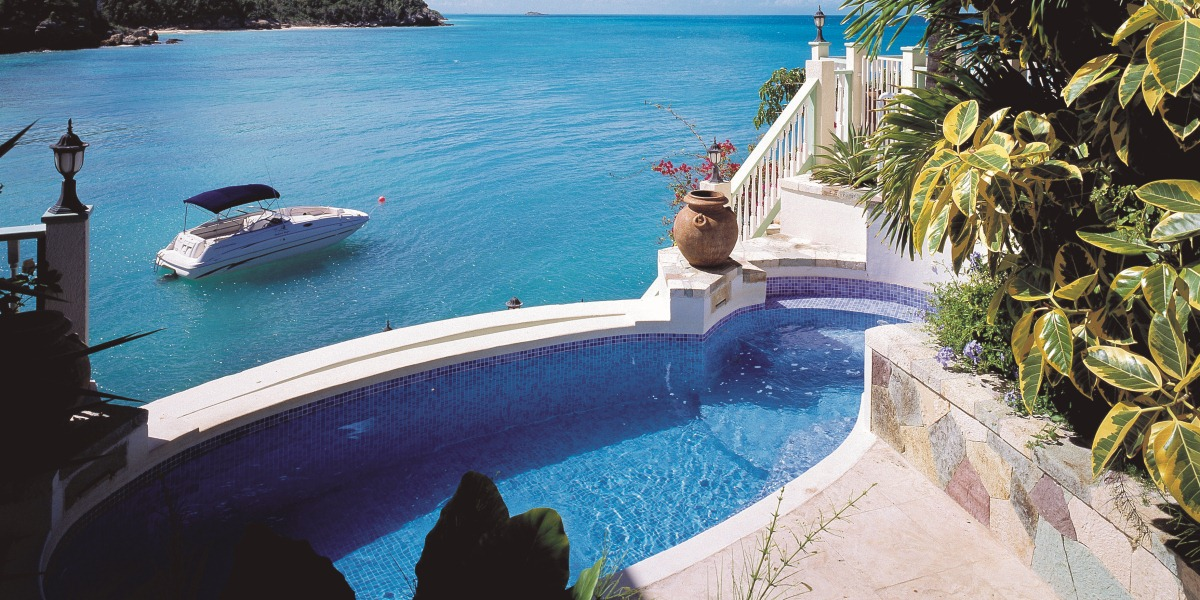 Rock Cottage Plunge Pool at Blue Waters Resort in Antigua