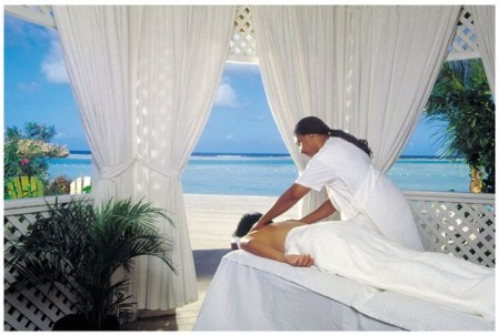 Spa Services on the Beach at Coyaba Beach Resort in Montego Bay, Jamaica