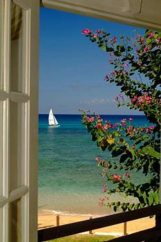 Pristine View from a Terrace at Treasure Beach Hotel, Barbados