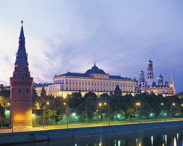 Night View of the Kremlin, Moscow, Russia