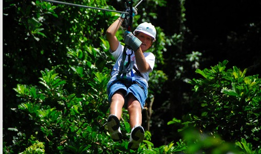 Ziplining in Barbados